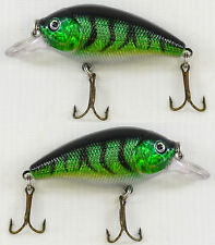 2 x Fladen Eco Mini Fat 7cm Floating Rattler Plug Lure 10g Perch Sea & Coarse