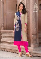 Glamorous Heavy Rayon Cotton Embroidered Kurti, Kurta/Tunic in XL Size