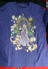 NEW Teefury Disney Tangled Dream of a Flower Rapunzel PurpleT-Shirt Youth Medium