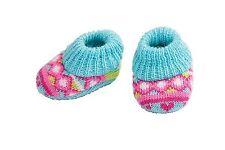 Heless Puppenkleidung, kleine Strickschuhe für Babypuppen mit ca. 5 cm Füßchen