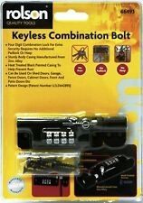 KEYLESS 4 DIGIT SECURITY COMBINATION BOLT PADLOCK LOCKING DOOR LOCK