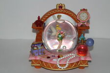 Disney Tinkerbell Clock Vanity Jewelry Musical Snowglobe Snow Globe You Can Fly