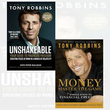 Tony Robbin Unshakeable Collection 2 Books Set Pack Money Master the Game NEW UK