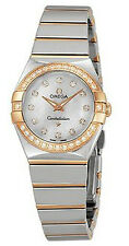 123.25.24.60.55.005 BRAND NEW GENUINE OMEGA CONSTELLATION WOMENS ROSE GOLD WATCH