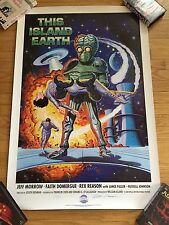 THIS ISLAND EARTH HORROR SCI FI 1 Sheet Movie Poster signed Universal Monsters