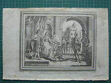 1771 PRINT ~ COLUMBUS PRESENTING AN ACCOUNT OF HIS VOYAGES TO KING OF SPAIN
