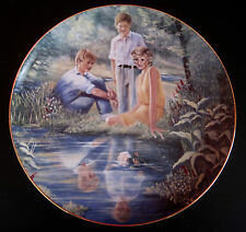 "Princess Diana with Princes William & Harry Plate-""Reflections of Tomorrow"""