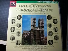LP: Service of THANKSGIVING Royal College Music