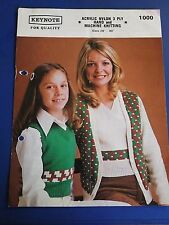 Vintage Keynote Women's Girls Twin set Knitting Pattern 1000