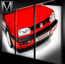 Vw golf III GTI toile sur 3 châssis image voiture poster LOUNGE CANVAS