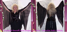Stevie Nicks Style Black Rhiannon Velvet & Chiffon Top  - Custom Made 10 - 20