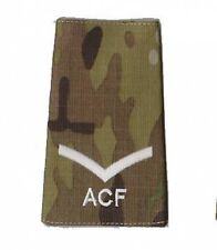 Pair Multicam MTP ACF Lance Corporal L/CPL RANK SLIDE ( Cadets Army Cadet Force