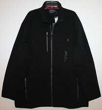 Polo Ralph Lauren Big and Tall Mens Black Full-Zip Fleece Jacket NWT $165 4XLT