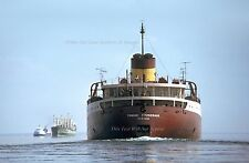 Poster Print: 24 x 36: Hi Res: SS Edmund Fitzgerald On St. Mary's Last Days 1975