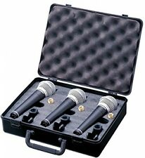 3 Microphones Music Equipment Vocal Band Practice Presentation Wedding 3 Pack