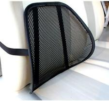 Mesh Lumbar Back Brace Support Office Home Car Seat Chair Cushion Cool Black New