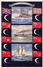8219) MARINA, FLAGS E SHIPS OF BRITAINS COLONIAL EMIRE.