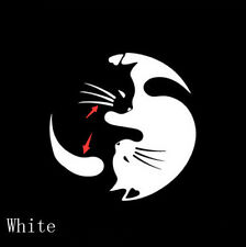Yin And Yang Cat Automobile Styling Decals Personalized Car Window Glass Sticker
