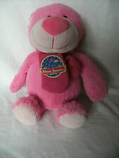 """12"""" cute soft pink alton towers teddy bear with pink scarf plush doll"""