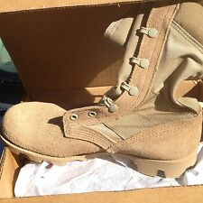 NIB Wellco US Military Desert Tan Hot Weather Boots Mens  Size 5W  5 Wide