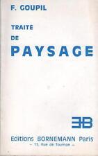Traité de Paysage - F. Goupil DESSINS NATURE ART CROQUIS PHYSIONONMIE DE L'ARBRE