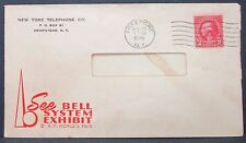 US World's Fair Cover NY Telephone Company Bell System 2c 1940 USA Brief (Y-131