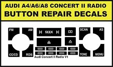 AUDI CONCERT RADIO STEREO BUTTON REPAIR DECAL KIT A4 A6 A8
