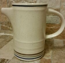 Shannon Aran Stone Creamer Bluewick Made In Ireland Ivory Blue Brown Gray bands