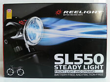 New Reelight SL550 steady bike bicycle front light & dynamo no batteries
