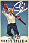 Art Ad New Haven RR Ski Travel Skiing Deco Poster Print