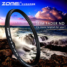 Zomei 55mm Slim Fader ND2 to ND400 ND2-400 Neutral Density Filter For SLR Camera