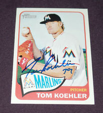 TOM KOEHLER SIGNED AUTO'D 2014 TOPPS HERITAGE CARD #H562 MIAMI MARLINS