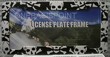 Pirate Skulls Cross Bones Flag License Plate Frame Sign Car Tag Auto Vanity New