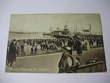 K190 ~ 1915 PIER & PROMENADE New Brighton POSTCARD with Stamp
