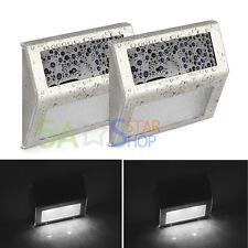 2Pcs Solar Power Door Fence Wall Lights Steel LED Outdoor Garden Lighting Bright