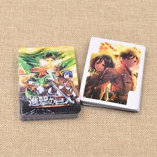 54pcs Anime Attack on Titan Poker Cards Shingeki no Kyojin Playing Cards