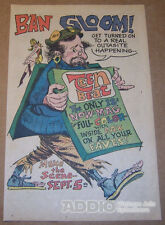 1967 Teen Beat Magazine Debut Cartoon Hippie Boho Illustrated Print Ad Vtg '60s
