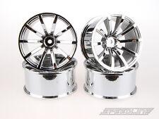 RC Drift Car 1/10 SPEEDLINE 2.2 Wheel Rims Chrome 10 Spoke Offset7 4pcs 56x28mm