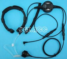 Military Throat Mic Headset/Earpiece For Cobra Radio CXR925 CXR950 CXT420 CXT425