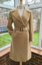 Ralph Lauren Designer Wool Camel Belted Coat , Size XS UK 6-8