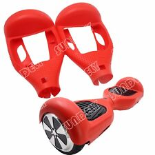 "Hi-Q Silicone Silikon Cover For 6.5"" Hoverboard Balance Scooter 2 Wheels Red New"