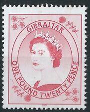 n068) Gibraltar. 1999/01. MNH. SG 869a £1.20 Bright carmine.