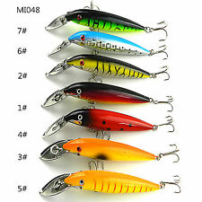 only 1pcs Minnow Sea Fishing Lures 14cm/16.2g Dive Plastic Baits Fishing Tackle