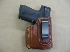 Glock 26, 27,33 With Laser IWB Leather In Waistband Conceal Carry Holster TAN R