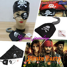 New Magic Halloween Party Pirate Scarf Scar Cyclops Eye Mask Pirate Hook Prop YZ
