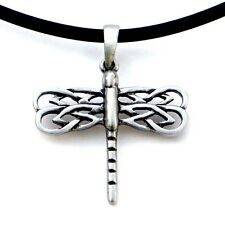 Asatru Celtic Dragonfly Peace prosperity Pagan Magic Wicca Pewter Pendant