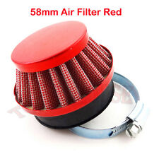 Red 58mm Performance Air Filter For Gas Motorized Bicycle Pocket Bike Mini Moto