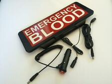 LED Univisor EMERGENCY BLOOD Sign visor flash
