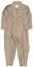 NEW NOMEX USMilitary Flight Suit CWU 27P Flyers Tan Coveralls 52 L Long Jumpsuit