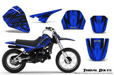 YAMAHA PW80 CREATORX GRAPHICS KIT DECALS STICKERS TRIBAL BOLTS BLUE